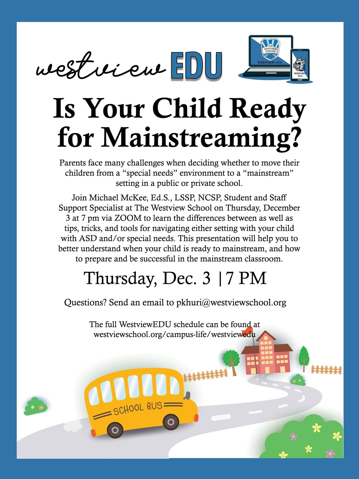 Westview EDU: Is Your Child Ready for Mainstreaming?