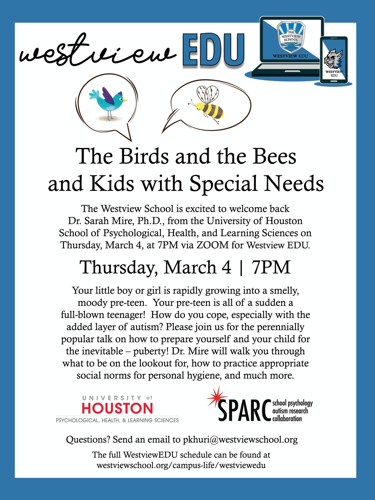WESTVIEW EDU: The Birds and the Bees and Kids with Special Needs