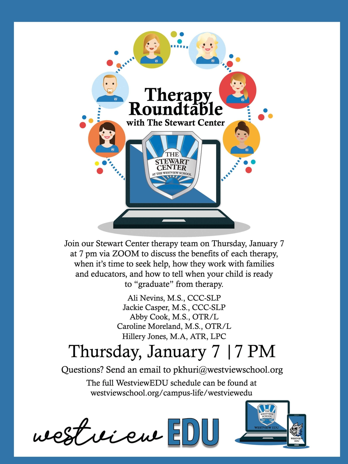 WESTVIEW EDU: Therapy Roundtable with The Stewart Center