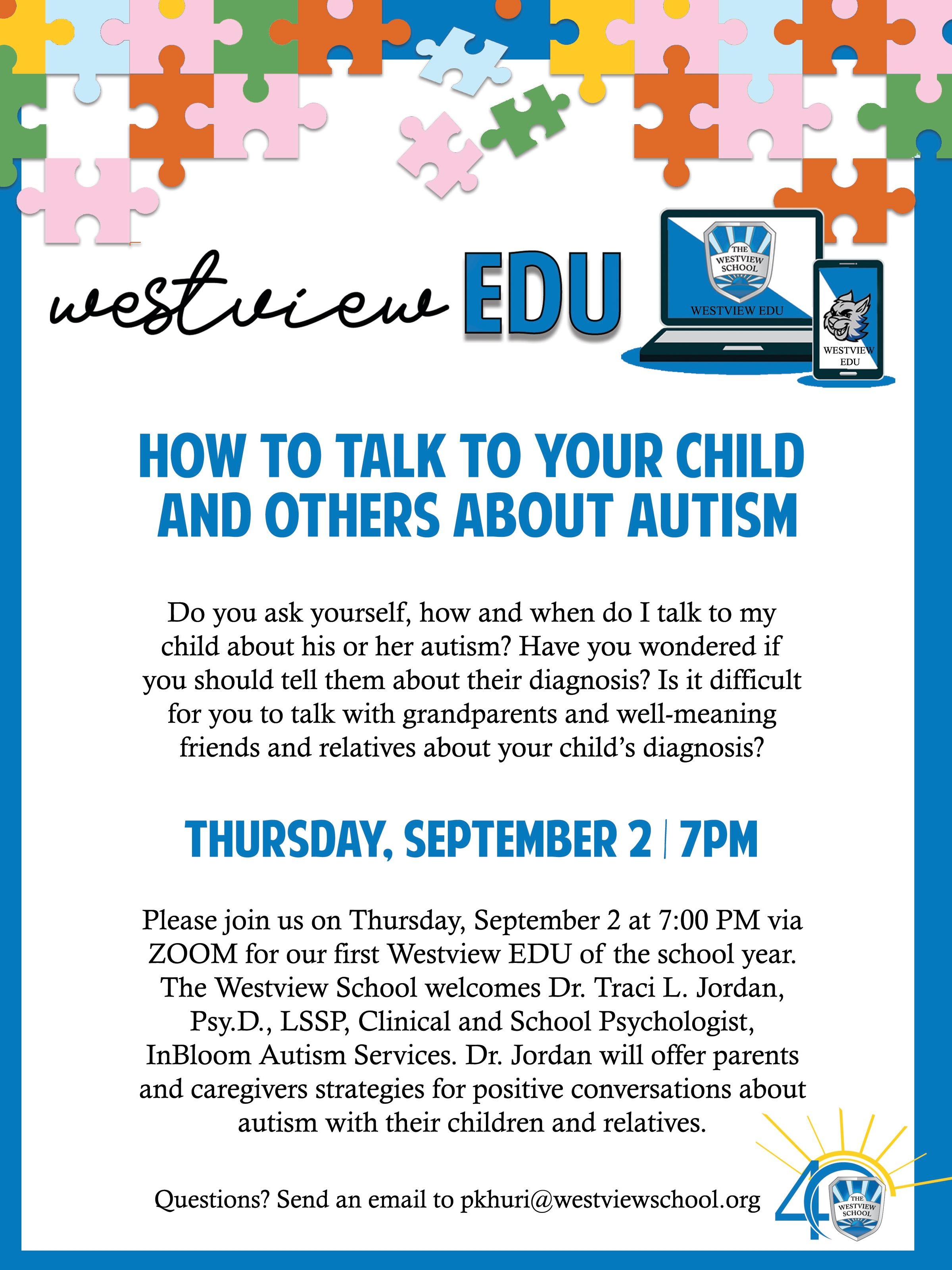 Westview EDU: How to Talk to Your Child and Others About Autism